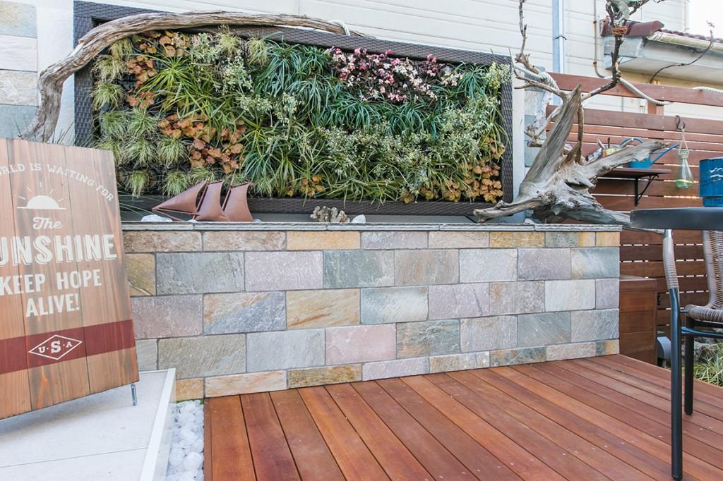 【グリーンパネル】お庭の壁を緑化