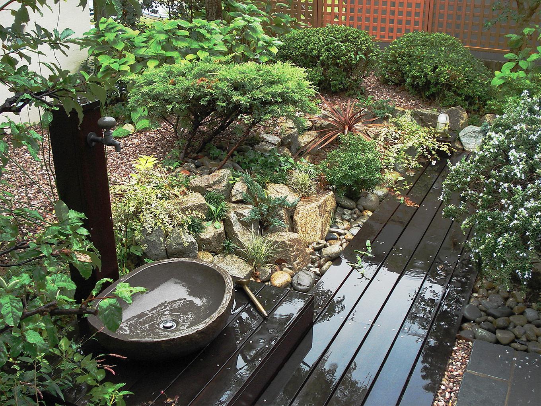 禅の世界感を表現しているような落ち着いたお庭。