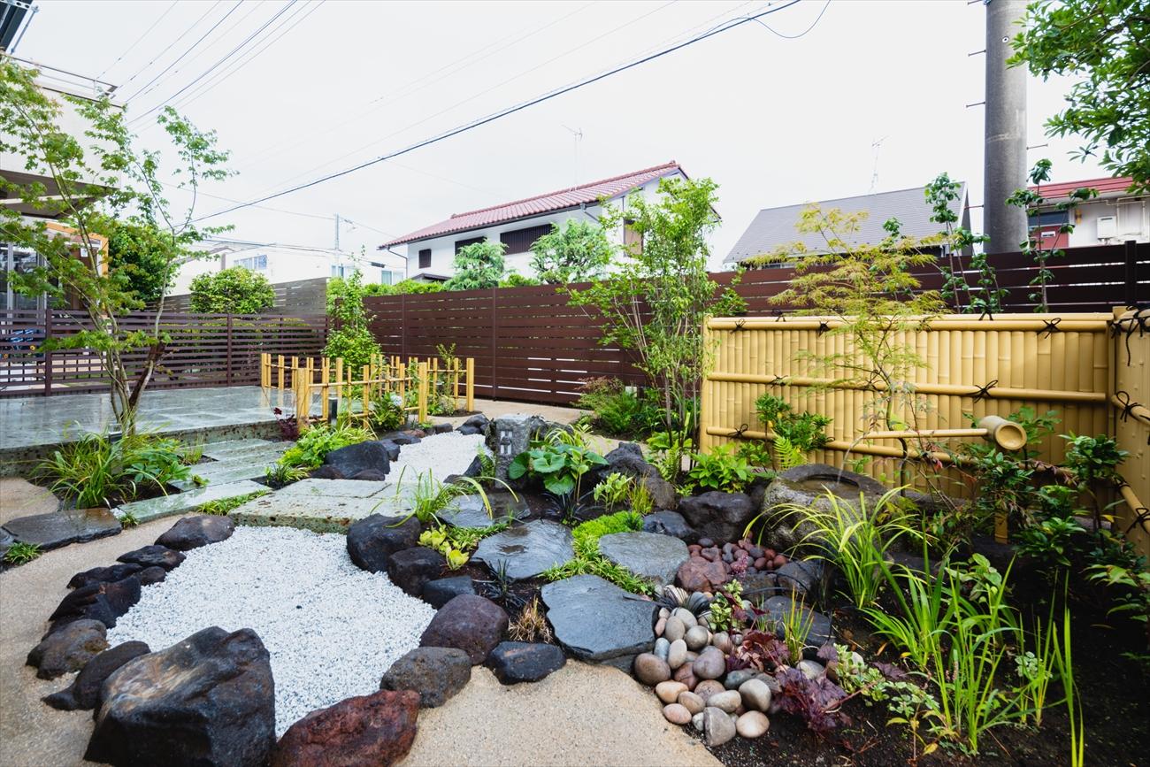 ローメンテナンスな和風ガーデン